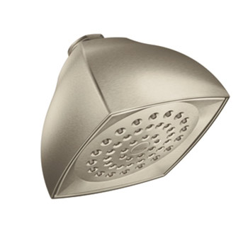 Moen 6325BN Voss Single Function Moenflo xl Showerhead - Brushed Nickel