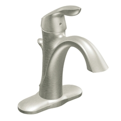 Moen 6400BN Eva Single Handle Low Arc Lavatory Faucet Brushed Nickel