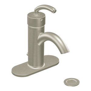 Moen S6500BN Icon Single-Handle Centerset Lavatory Faucet Brushed Nickel