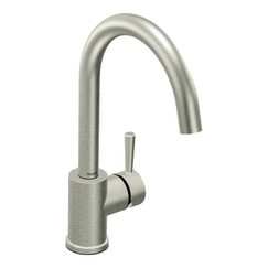 Moen 7100CSL Level Single Handle High Arc Kitchen Faucet Classic Stainless