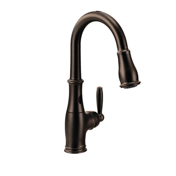 Moen 7185EORB Brantford with MotionSense Single Handle High Arc Pulldown Kitchen Faucet - Oil Rubbed Bronze