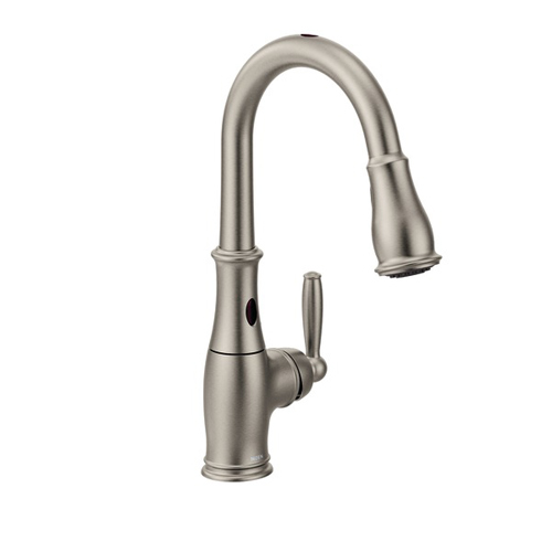 Moen 7185ESRS Brantford with MotionSense Single Handle High Arc Pulldown Kitchen Faucet - Spot Resist Stainless