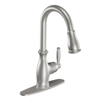 Moen 7185CSL Brantford Single Handle High Arc Pulldown Kitchen Faucet - Stainless