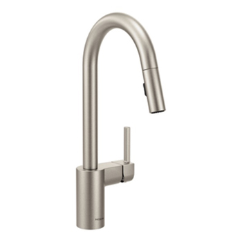 Moen 7565SRS Align Single Handle High Arc Pulldown Kitchen Faucet - Spot Resist Stainless