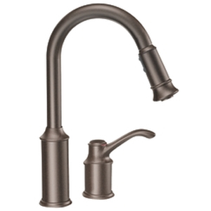 Moen 7590ORB Aberdeen Single-Handle Pullout Kitchen Faucet - Oil Rubbed Bronze