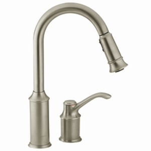 Moen 7590CSL Aberdeen Single-Handle Pullout Kitchen Faucet - Classic Stainless