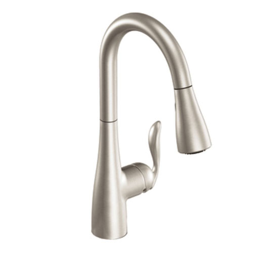Moen 7594srs Arbor Single Handle Hole Pull Down Kitchen Faucet Spot Resist Stainless Faucetdepot Com