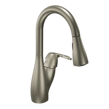 Moen CA7599CSL Medora Single-Handle Pullout Kitchen Faucet Classic Stainless