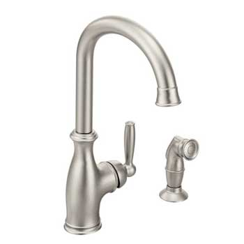 Moen 7735SRS Brantford Single Handle Kitchen Faucet - Spot Resist Stainless