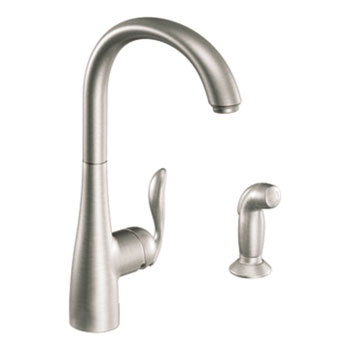 Moen 7790SRS Arbor Single-Handle High Arc Kitchen Faucet With Side Spray - Spot Resist Stainless