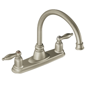 Moen 7902SL Castleby Two-Handle Kitchen Faucet Stainless