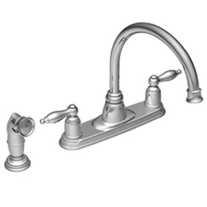 Moen 7905 Castleby Two-Handle Kitchen Faucet with Side Spray Chrome
