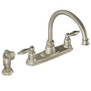 Moen 7905SL Castleby Two-Handle Kitchen Faucet with Side Spray Stainless