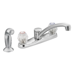 Moen 7910 Chateau Two-Handle Kitchen Faucet with Side Spray Chrome