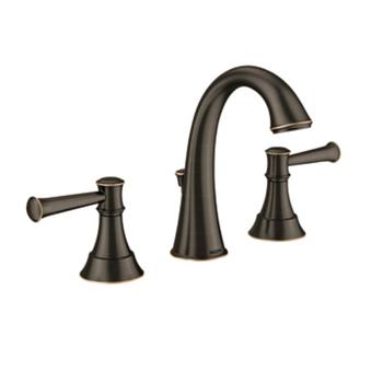 Moen 84778MBRB Ashville Two Handle Widespread Lavatory Faucet - Mediterranean Bronze