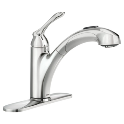Moen 87017 Banbury Single Handle Pullout Sprayer Kitchen Faucet - Chrome
