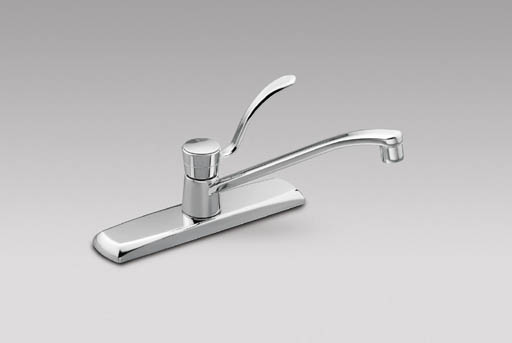 moen commercial single handle kitchen faucet chrome