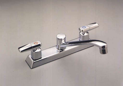 Moen 8780 Commercial Two Handle Kitchen Faucet Chrome