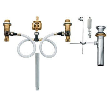 Delta Bathroom Faucet Repair Two Handle >> Moen 9000 M-PACT(R) Lavatory Rough-In Valve with Drain Assembly - FaucetDepot.com