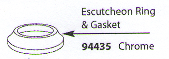 Moen 94435 Replacement Escutcheon Ring & Gasket Chrome