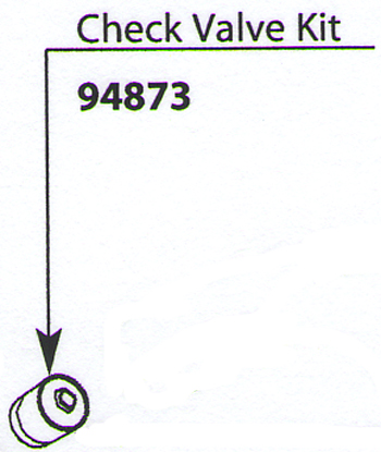 Moen 94873 Replacement Check Valve Kit