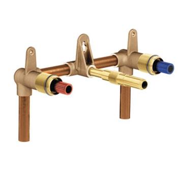 moen mpact adjustable two handle wall mount rough in valve