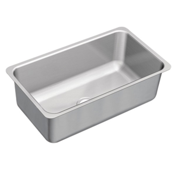 Moen G18110 1800 Series 18 Gauge Single Bowl Undermount Kitchen Sink - Stainless Steel