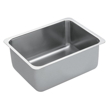Moen G18190 1800 Series 18 Gauge Single Bowl Undermount Kitchen Sink - Stainless Steel