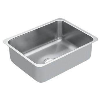 Moen G18191 1800 Series 18 Gauge Single Bowl Undermount Kitchen Sink Stainless Steel