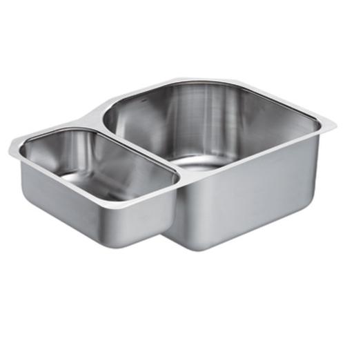 Moen G18237 1800 Series 18 Gauge Double Bowl Undermount Kitchen Sink Stainless Steel Faucetdepot Com