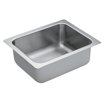 Moen G18440 1800 Series 18 Gauge Single Bowl Undermount Kitchen Sink - Stainless Steel