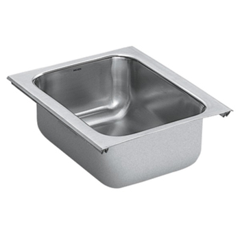 stainless steel kitchen sinks undermount 18 gauge moen g18450 1800 series 18 single bowl undermount 9782