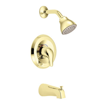 Moen L2353P Chateau Posi-Temp Single Handle Tub/Shower - Polished Brass