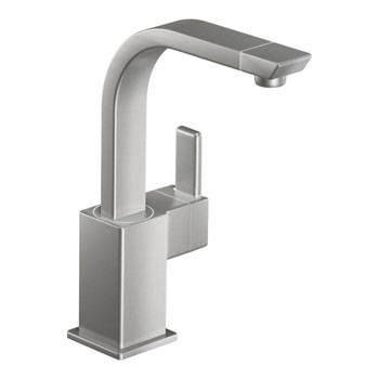 Moen S5170CSL 90 Degree Single Handle High Arc Single Mount Bar Faucet - Classic Stainless