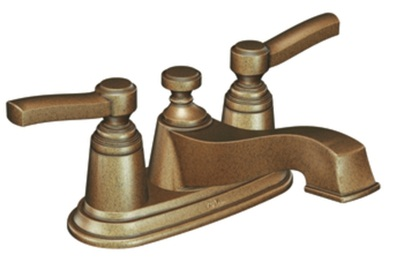 Moen S6201AZ Rothbury Lavatory Double Handle Centerset Faucet - Antique Bronze