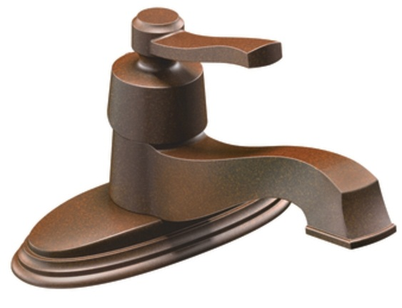 Moen S6202ORB Rothbury Lavatory Single Handle Faucet - Oil Rubbed Bronze