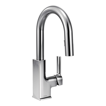 Moen S62308 STo Single Handle High Arc Pulldown Bar Faucet - Chrome