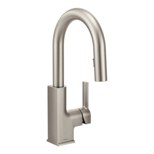 Moen S62308SRS STo Single Handle High Arc Pulldown Bar Faucet - Spot Resist Stainless