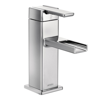 Moen S6705 90 Degree One Handle Low Arc Lavatory Faucet - Chrome