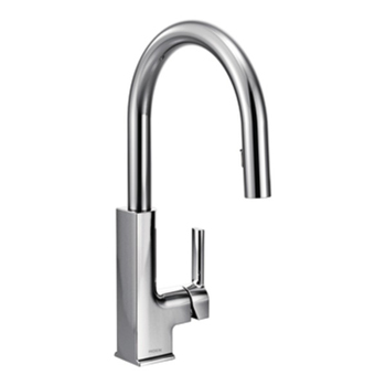 Moen S72308 STo Single Handle High Arc Pulldown Kitchen Faucet - Chrome
