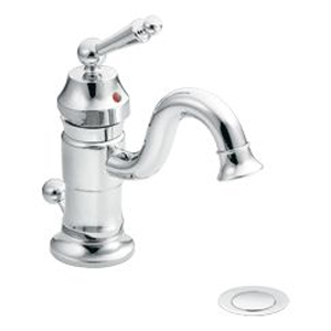 Moen ShowHouse S411 Waterhill Single Hole Centerset Lavatory Faucet Chrome