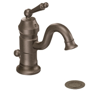 Moen-ShowHouse-S411ORB-Waterhill-Single-Hole-Centerset-Lavatory-Faucet-Oil-Rubbed-Bronze