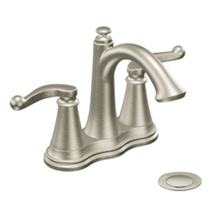 Moen ShowHouse S492BN Savvy Two Handle Centerset Lavatory Faucet Brushed Nickel