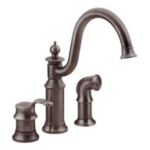 Moen ShowHouse S711ORB Waterhill Single Handle Kitchen Faucet with Matching Side Spray Oil Rubbed Bronze