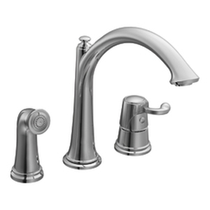 Moen ShowHouse S791 Savvy Single Handle Kitchen Faucet with Matching Side Spray Chrome