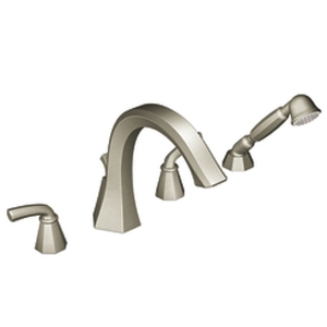 Moen ShowHouse TS244BN Felicity Roman Tub Trim with Hand Shower Brushed Nickel