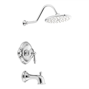 Moen ShowHouse TS314 Waterhill Posi-Temp Single Handle Tub/Shower Trim Chrome