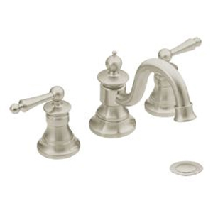 Moen ShowHouse TS418BN Waterhill Two Handle Widespread Lavatory Faucet Trim Brushed Nickel
