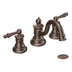 Moen ShowHouse TS418ORB Waterhill Two Handle Widespread Lavatory Faucet Trim Oil Rubbed Bronze