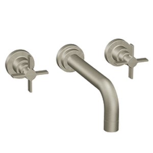 Moen ShowHouse TS4712BN Solace Two Handle Wall Mount Lavatory Faucet Trim Brushed Nickel